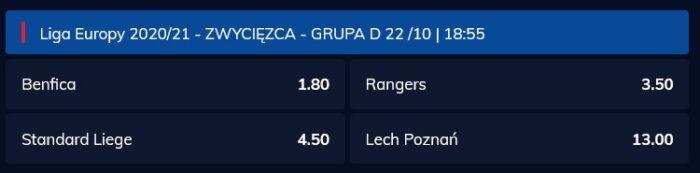 Czy Lech Poznań wygra grupę LE oferty bukmacherów
