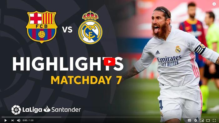 FC Barcelona - Real Madryt 1-3 El Clasico 2020-2021