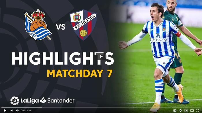 Real Sociedad - Huesca 4-1 La Liga 2020-2021 skrót
