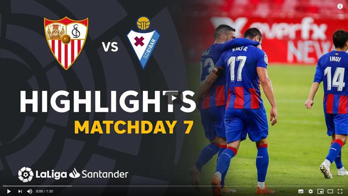 Sevilla Eibar 0-1 La Liga 2020-2021 skrót