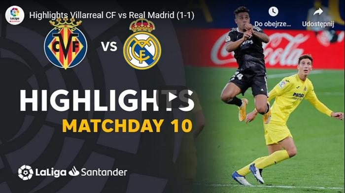 Villarreal - Real Madryt 1-1 Primera Division 2020-2021