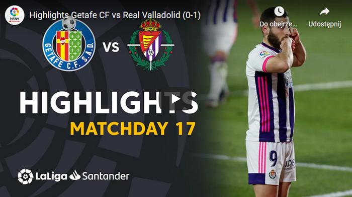 Getafe CF 0:1 Real Valladolid 2020-2021 Primera Division skrót