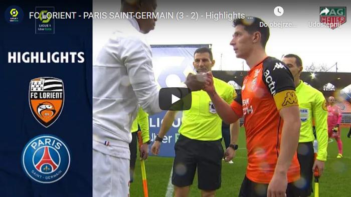 Lorient PSG 3-2 2020-2021 Ligue Askrót meczu